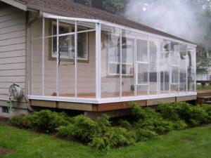 Lean To Greenhouse Fascia Attached