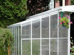 Lean To Greenhouse with Lower Roof Pitch