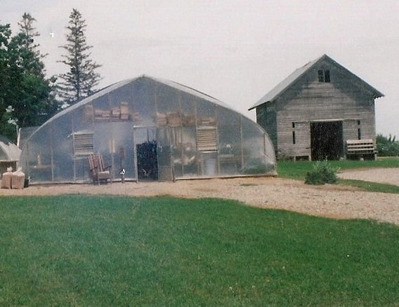 Greenhouse With Inflated Double Polyfilm Glazing