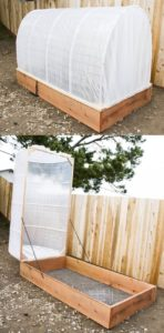 Raised Garden Bed with Removable Cold Frame